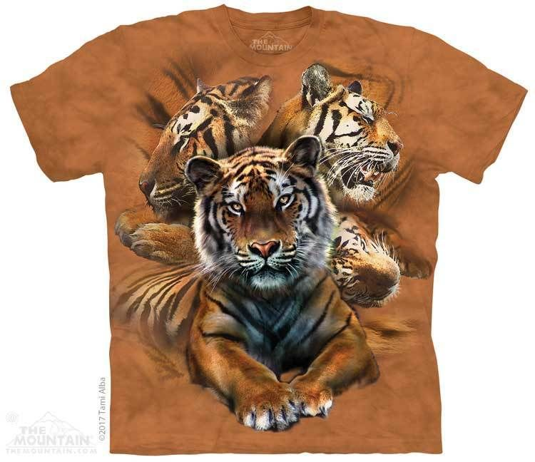 Resting Tiger Collage T-Shirt