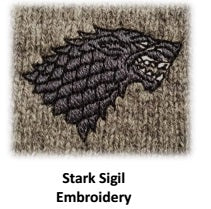 Game of Thrones Stark V-Neck Sweater - Officially Licensed