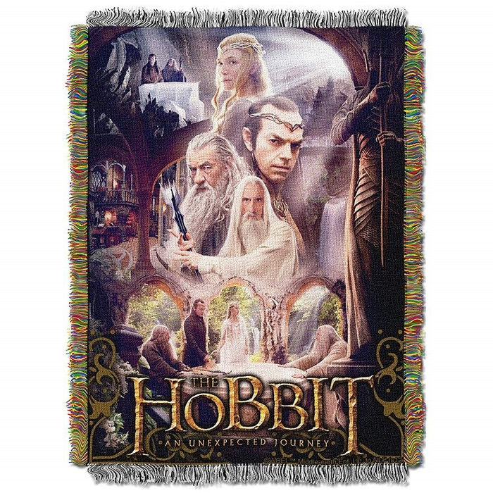 The Hobbit Last House Tapestry Throw Blanket