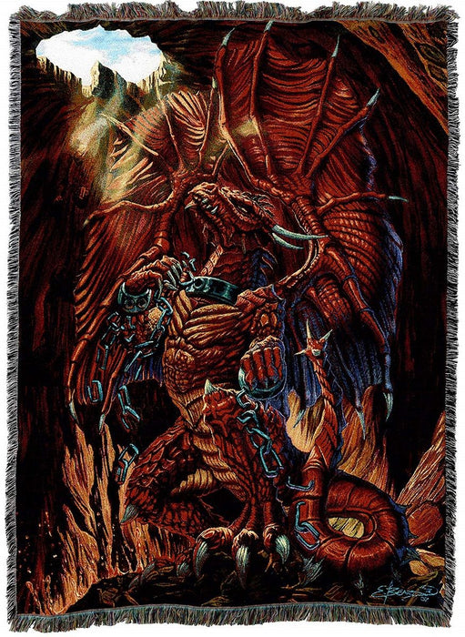 Unbound Dragon Tapestry Blanket