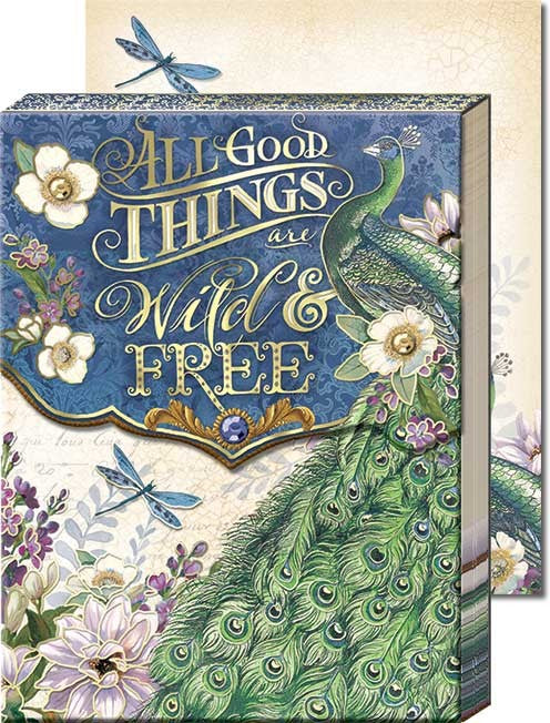 Wild & Free Peacock Pocket Note Pad