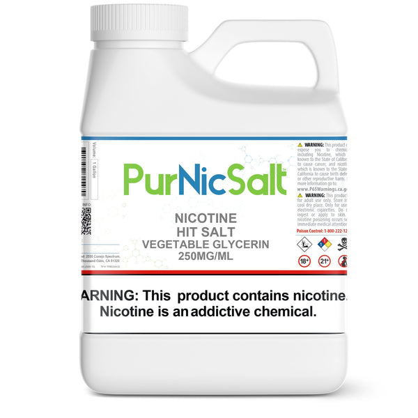 PurNic™ Hit Nicotine Salt 250mg/ml Nicotine Hit Salts PurNic 1 Gallon Vegetable Glycerin