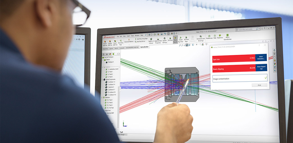 Automatic conversion of optical designs into CAD parts accelerates manufacturability