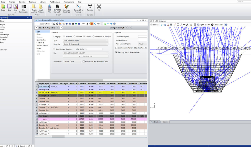 Ray trace faster using user-defined objects in OpticStudio