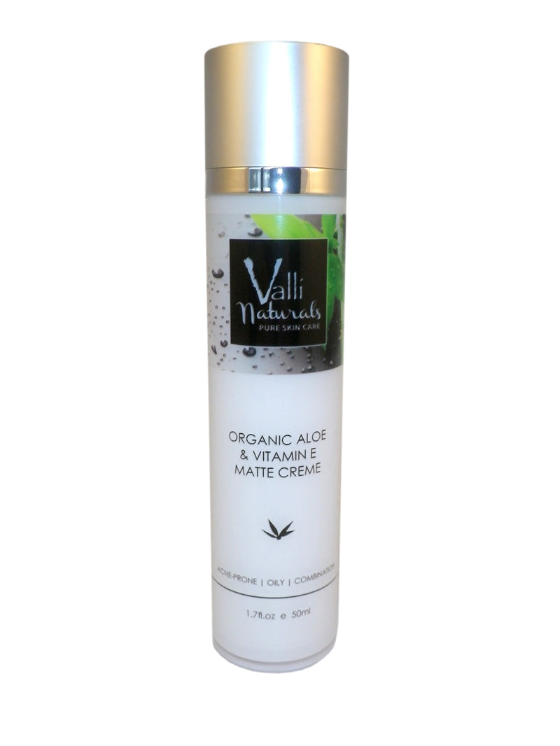 Organic Aloe and Vitamin E Matte Creme