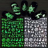 Luminous Effect 3D Christmas Snow Nail Art Sticker