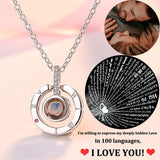 Necklace That Says I Love You In 100 Languages Projection