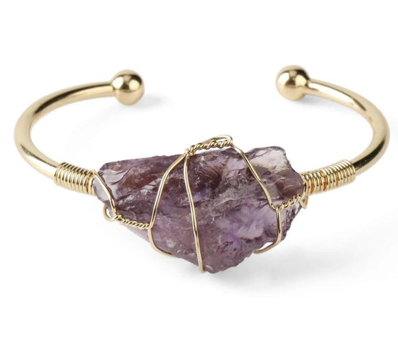 Unique Natural Stone Irregular Crystal Bracelet