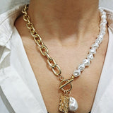 Fashion Baroque Pearl and Gold Pendants Necklaces