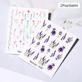 1pc Colorful Floral Nail Art Stickers