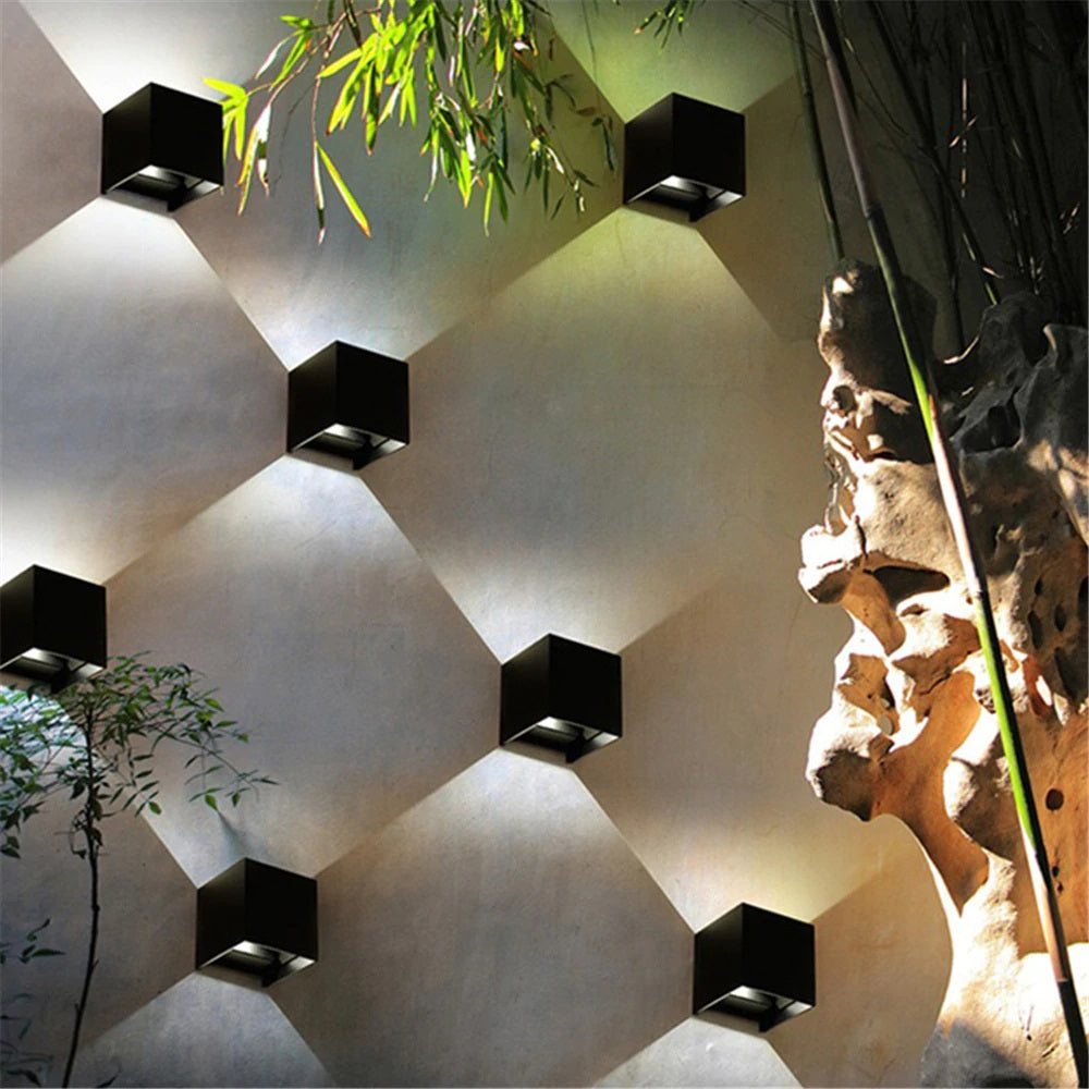 Modern LED Wall Mounted Cube Porch Light Indoor & Outdoor