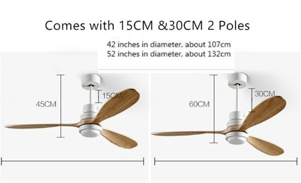 High quality Wooden Ceiling Fan