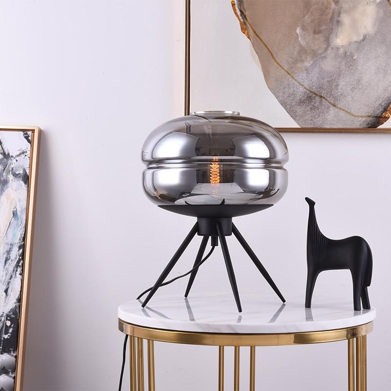 Nordic table lamp glass lampshade