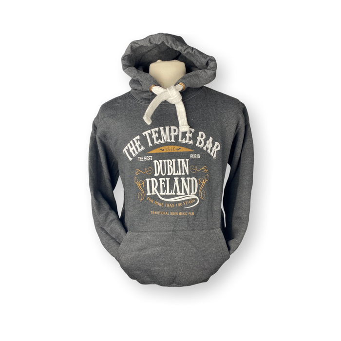 The Temple Bar Pub Logo - Hoodie Melange Black