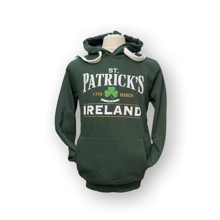 St. Patricks Day Hoodie - Bottle Green