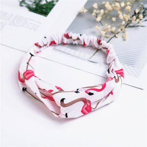Pink Flamingo Crossover Headband