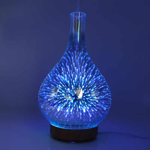 Glass Colorful Vase Humidifier