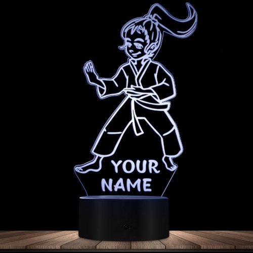 Personalized Karate Girls Novelty Night Light