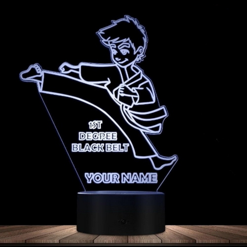 Personalized Boys Karate 3D Night Light