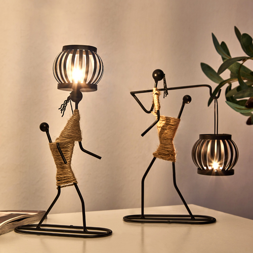 Creative Iron Candle Holder