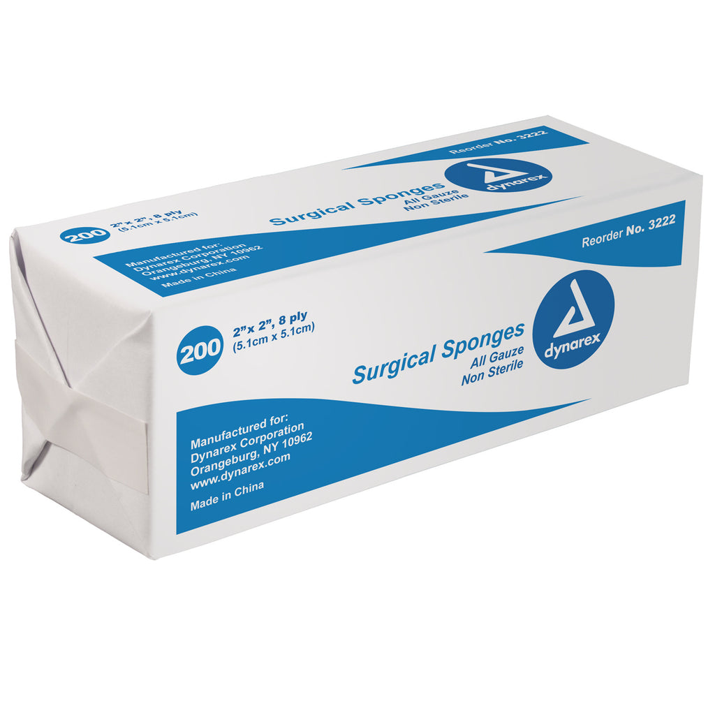 "Surgical Sponges 2"" X 2' dynarex #3222"