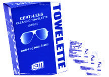 "Certi-Lens Towelettes- 5"" x 6"" - 120 packets/box Certified 508-001"