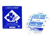 "Certi-Strips - Woven Heavy Weight BLUE - Xtra Large - 2"" x 3"" - 25/box Certified R507-018"