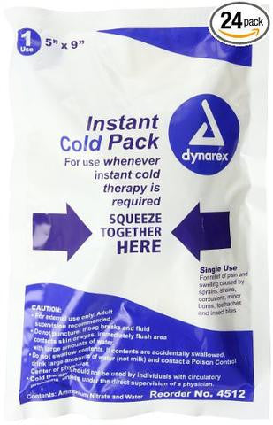 "Cold Packs - Instant cold treatment 5"" x 9""  (4512)"