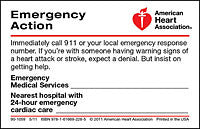 Emergency Action Wallet Card (50 per pack) (90-1059)