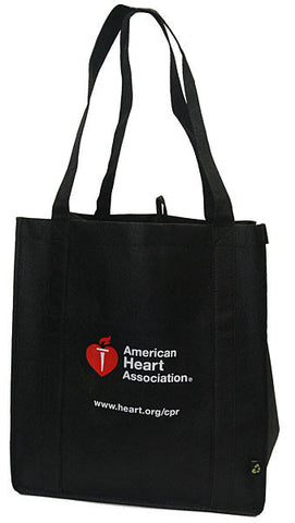 American Heart Association Black Recycled Tote Bag (90-1500)