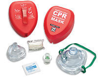 CPR Adult/Child And Infant Resuscitator Masks In Hard Red Case