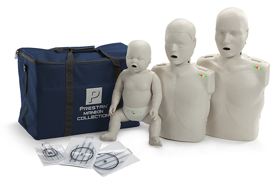 Prestan Professional CPR-AED Training Manikin (with CPR Monitor) Collection (Light Skin) (PP-FM-300M)