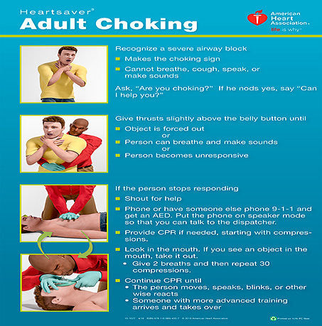 Poster Heartsaver® Adult Choking  15-1027