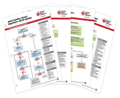 Advanced Cardiovascular Life Support (ACLS) Emergency Crash Cart Cards (15-1008)