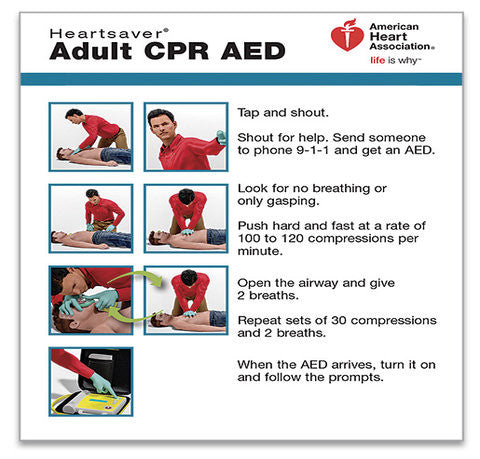 Heartsaver® Adult CPR AED Wallet Card (15-1024)
