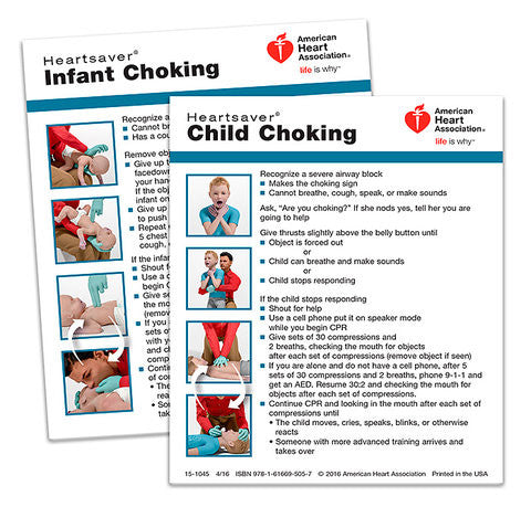 Heartsaver® Child And Infant Choking Wallet Card (15-1045)