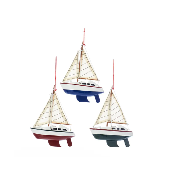 Yacht With Sails Ornaments 5""