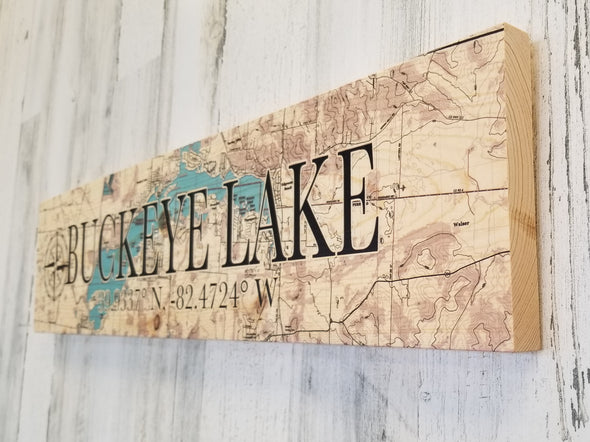 Buckeye Lake Coordinate Sign