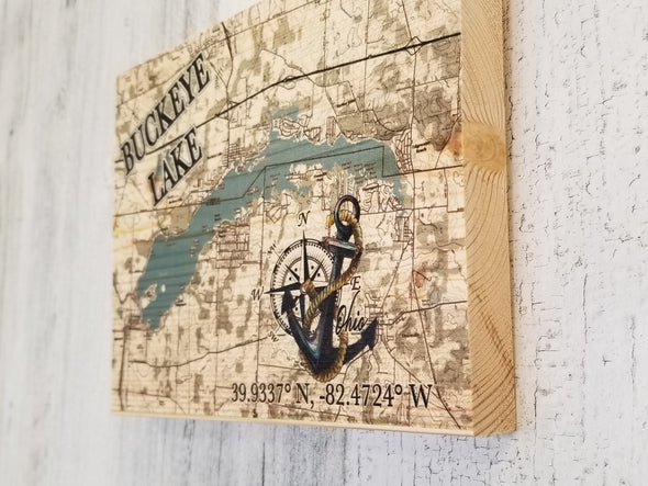 Mini Plank Buckeye Lake Anchor Map