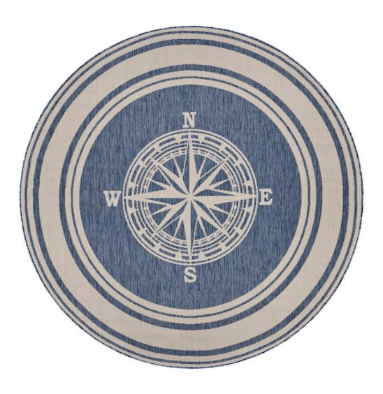 Lakeside Compass Rose Rug