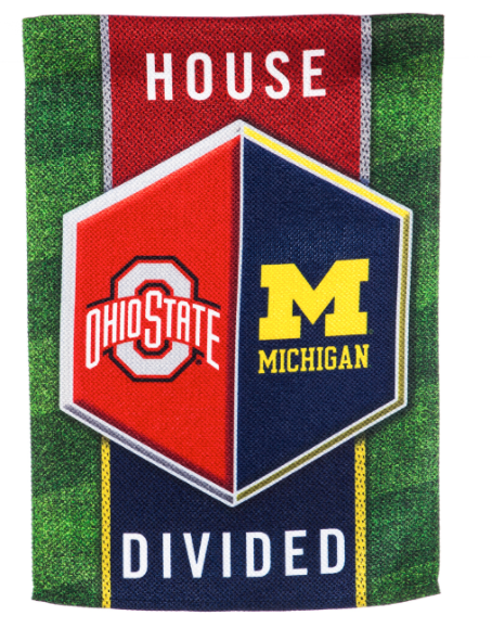Michigan Divided House Garden Flag