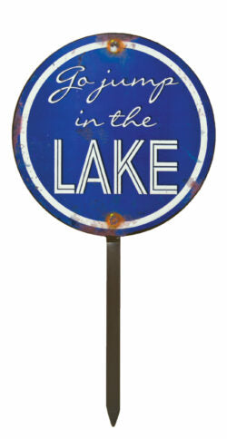 Jump Lake Sign Tin
