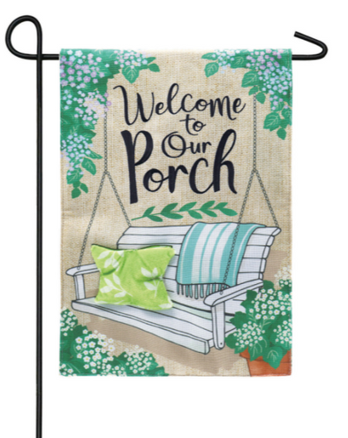 Porch Swing Welcome Garden Burlap Flag - Buckeye Lake Place