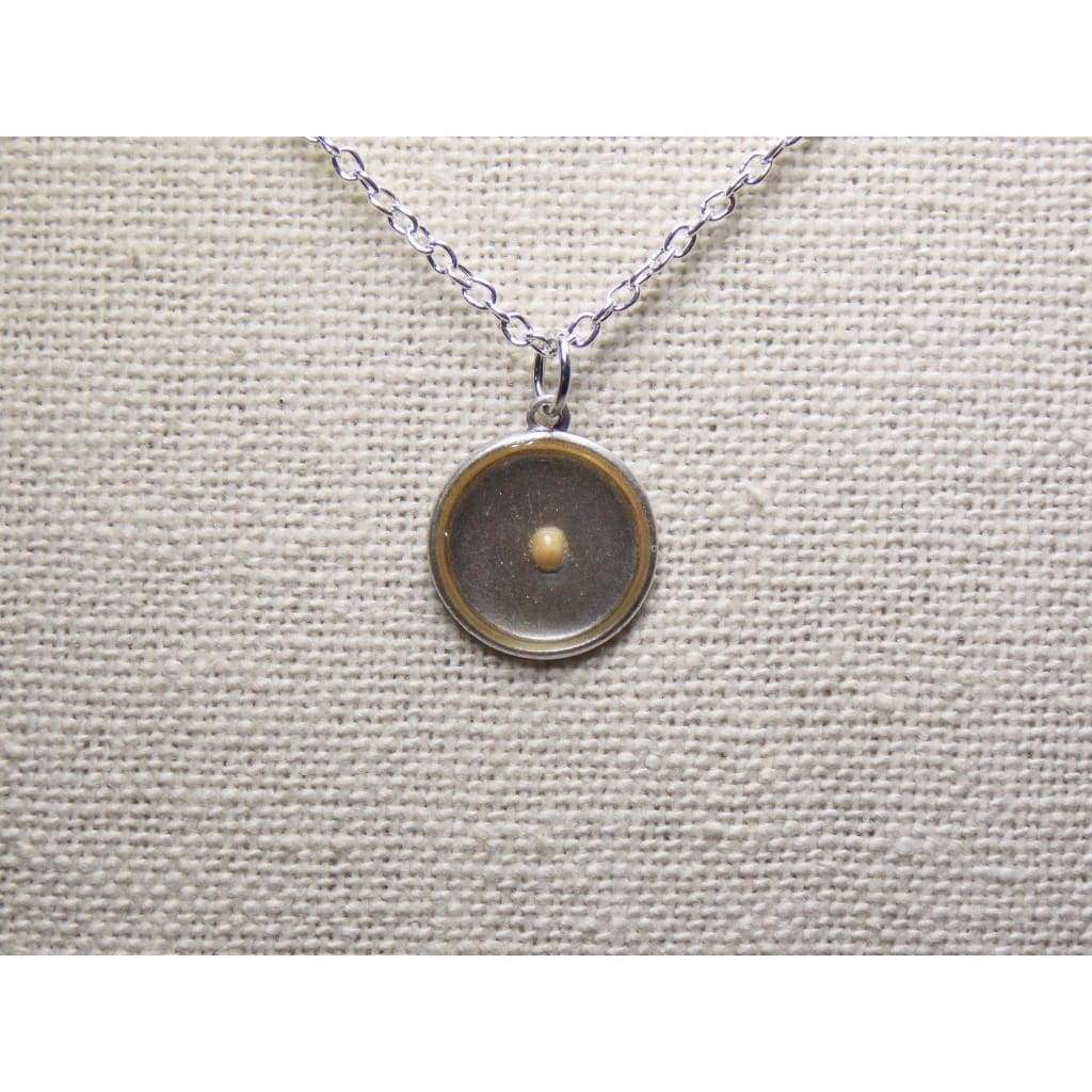 Mustard Seed of Faith...Antique Oxidized Sterling Silver Mustard Seed Round Necklace, - Nicki Lynn Jewelry