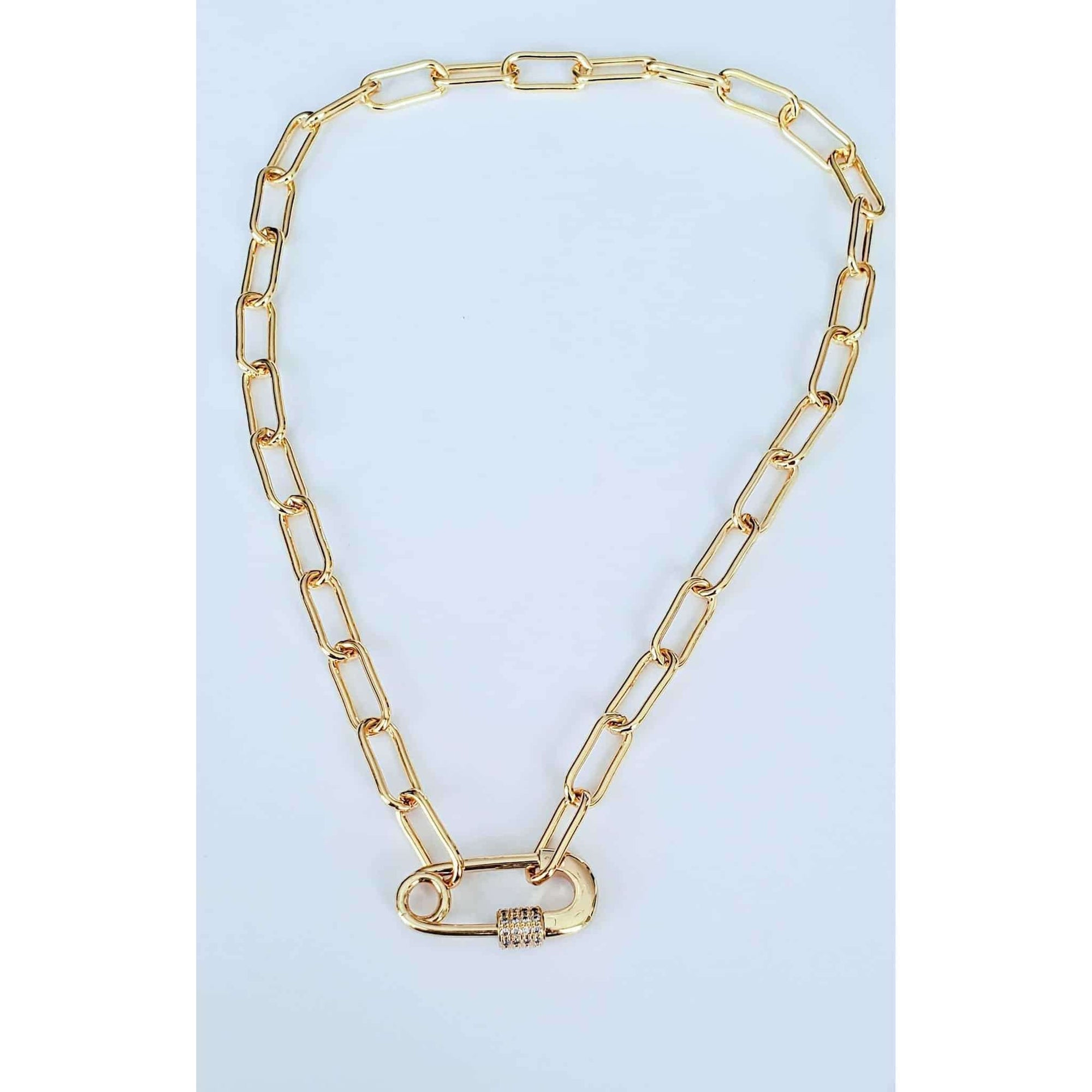 Oval Paperclip Link Chain Necklace - Nicki Lynn Jewelry