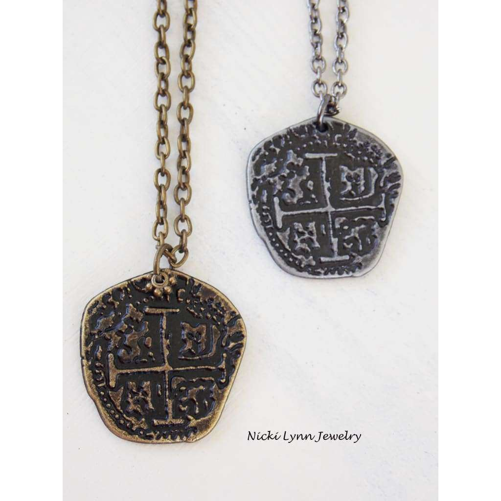 Pirate Coin Medallion Necklace - Nicki Lynn Jewelry
