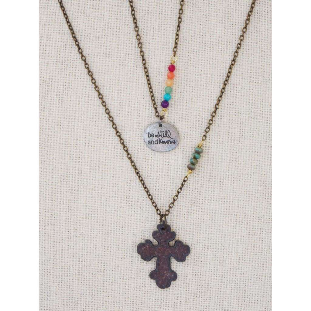 Rustic Artisan Iron Cross Necklace - Nicki Lynn Jewelry