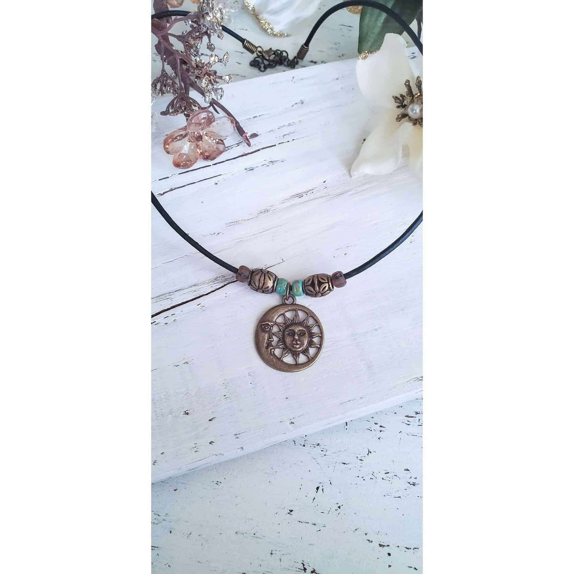 Sun and Moon Celestial Boho Necklace - Nicki Lynn Jewelry
