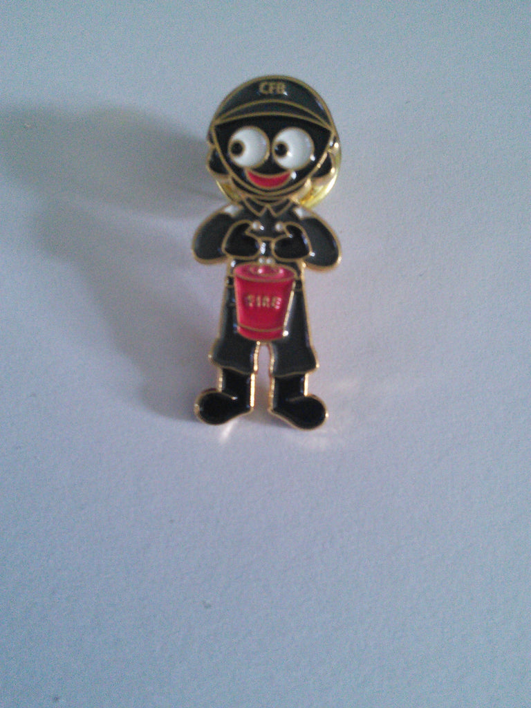 Fireman Golly Pin Badge