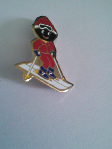 Original Robertson's Golly Pin Badge - Skier